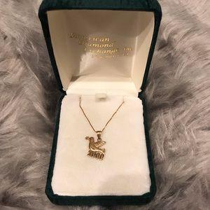 14K Gold Peace Dove Necklace